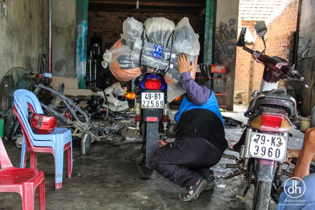Easy Rider Tour - Platter Reifen auf den letzten 10 Km