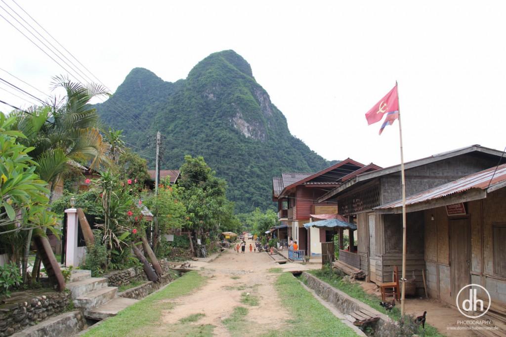 Muang Ngoy - Hauptstraße