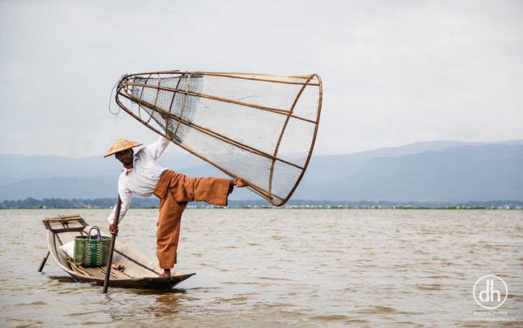 Inle Lake - traditionelle Fischer